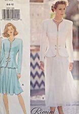 Vtg Butterick 3429 Sewing Pattern Rimini Dress Suit Skirt Jacket Top Suit 6-10