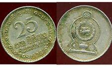 SRI LANKA  25 cents 1978  ( bis )