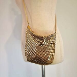 Vintage Glomesh Gold Handbag Clutch Evening Slouchy Bag Purse Made in Australia