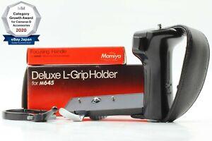 【NEAR MINT】 Mamiya Left Hand Grip for M645 + Lens focusing handle From JPN 1399