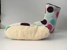 Roxy Femmes Pantoufle Bottes blanc avec des taches taille UK4/5 Serviette Semelle