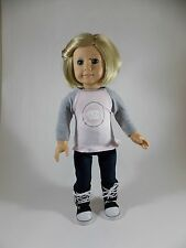 UNC - Chapel Hill Tarheels T-Shirt for American Girl & other 18-inch Dolls pnk