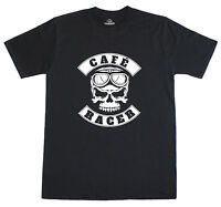 Cafe Racer Biker Motorcycle Busy Bee café and the Ace Café Print T-Shirt
