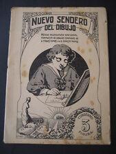 NUEVO SENDERO DEL DIBUJO Nº3. ANTIGUO CUADERNO ESCOLAR AÑOS 30-40