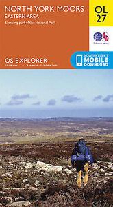 OL27 North Yorkshire Moors Eastern Area Ordnance Survey Explorer Map OL 27