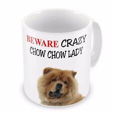 Beware Crazy CHOW CHOW LADY Funny Novelty Gift Mug