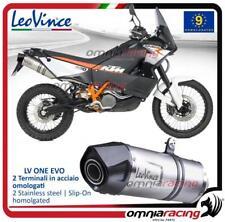 LEOVINCE LV ONE EVO 2 SLIP-ON Exhausts STEEL KTM 990 lc8 Adventure/R 2006 > 2012