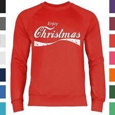 Enjoy Christmas Weihnachten Logo Parodie Herren Sweatshirt