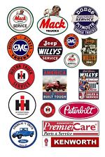 1:24 1:25 G scale model truck jeep service center signs