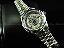 Croton Women's Bellagio Limited Ed Sapphire Swiss 2824 Automatic SS Watch-RARE