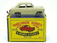 Matchbox Lesney No.30a Ford Prefect In Type 'B2' Series MOKO Box (1st ISSUE)
