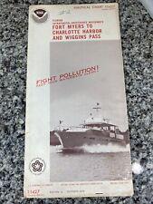 Vtg 1974 FL Ft Myers Charlotte Harbor Nautical Chart 11427 Map 12th Ed. NOAA