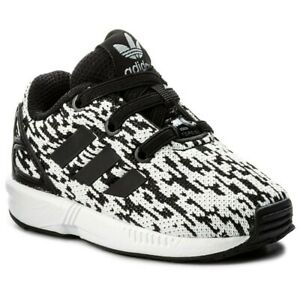 adidas ZX Flux EL Infants Sizes 6, 7 Black/White RRP £35 Brand New BY9896