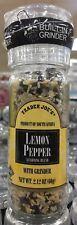 NEW! Trader Joe's Lemon Pepper Sea Salt Seasoning Blend w/ Grinder; 2.12oz (60g)