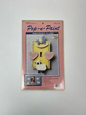 Pop N Paint Cut Wood Baby Nursery Switch Plate Cover and Picture Frame 1985
