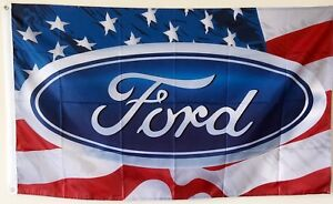 FORD AMERICA Auto Advertising FLAG BANNER 3X5ft man cave