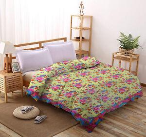 100% Pure Cotton Bedding 2018 New King Size Bed Doona Quilt Duvet Blanket Razai