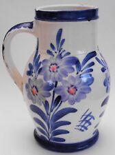 Pressi, tonware, Sassonia, bunzlauer Art, pittura a mano, floraler decoro, artigianato, 1930