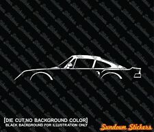 2x silhouette stickers aufkleber -for Porsche 959 | supercar oldtimer tuning