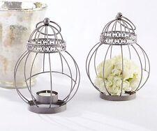 24 Vintage Birdcage Lanterns Tea Light Wedding Favors Decorations Q36301
