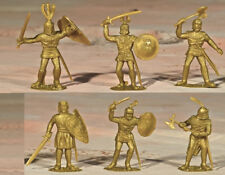 Timpo Recast 6 Gold Knights - 54mm unpainted plastic models - 1990s