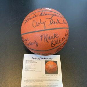 Rare 1977-78 San Antonio Spurs Team Signed Official Wilson Game Basketball JSA