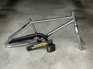 Vintage Team Murray X20R BMX Bike Frameset - Old School 80's Chrome - w/ Pads