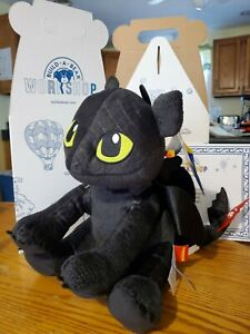 NWT Build-A-Bear TOOTHLESS Plush w/ RED TAIL How to train your dragon w/ Box