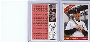 Rare Derek Jeter Reprint Card New York MINT (A-68)