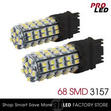 2X White SMD 68 LED 3157 3156 Turn Signal Blinker Corner Light bulbs