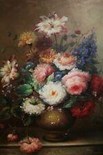 VINTAGE MASTER Artist Still Life oil canvas Painting Original Signed Framed art