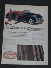 Original 1941 Print Ad Buy CHRYSLER Smart to BE Different Plaids Fabric Auto
