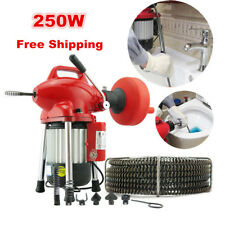 GB80 Electric Drain Cleaning Machine Sewer Plumbing Snake Sewage Pipe Cleaner