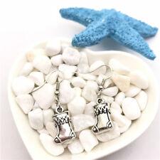 Christmas Stocking Earrings Tibet silver Charms Earrings Charm Earrings for Her