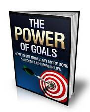 The Power Of Goals Ebook On CD $5.95 Plus Resale Rights Free Shipping