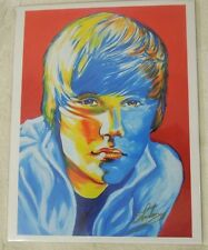 Justin Bieber Print By Shakor 8.5 x 11 Artwork Reproduction Signed by Artist