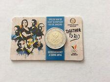 Blister de 2 € Belgique -XXXIe olympiade Rio de Janeiro