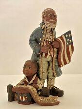 "Sarah's Attic 1994 Limited Edition ""Celebrate America"" African American Man, Boy"