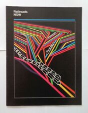Railroads Now Vintage Book 1970s Modern Graphic Design - The Future of Rr Trains