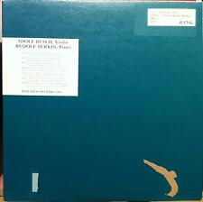 ADOLF BUSCH RUDOLF SERKIN recital 1910-1931 LP VG+ PER 2006 Vinyl  Record