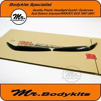 Plastic Headlight Eyebrows Eyelid Eye Lid Suit Subaru Impreza/WRX/STi 97-01 GC8