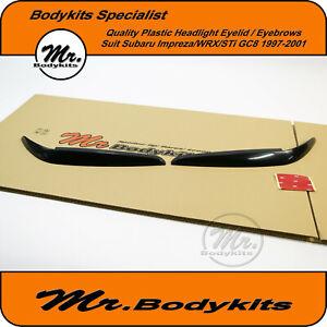 Plastic Headlight Eyebrows Eyelid Eye Lid For Subaru Impreza/WRX/STi 97-01 GC8