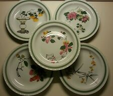 Mottahedeh Asian Floral Plate Set Chinese Ten Bamboo Studio MFA Boston Flowers