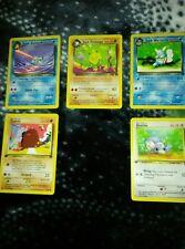 Lot #1 Pokemon cards 6+ for $5! Wartortle Base Set Jungle Fossil Sun&Moon Read