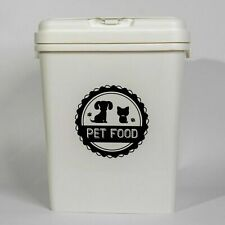 40L Pet Food Dry Feed Container Animal Dog Cat Storage Box Bin & Scoop (WHITE)