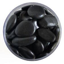 5 lb. Polished Black River Pond Shine Stones Fountain Rock Easy Storage Jar Dish