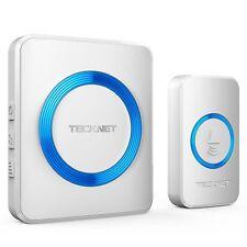 Wireless Doorbell, TeckNet Waterproof Wall Plug-in Cordless Door Chime Kit With