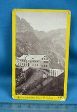 1870s CDV Swiss Carte De Visite Photo Klimsenhorn Inn Pilatus Suisse By A Gabler