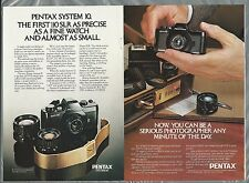 1979 PENTAX Auto 110 camera advertisements x2, one with Piguet watch