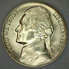 1944 P Jefferson Memorial Silver Nickel 5c US Coin Five Cents Silver BU K68